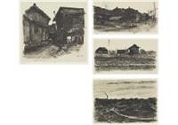 lithograph estampe from juniyo (set of 10) by kyuichiro aihara