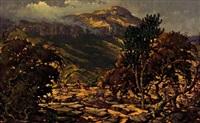 goats on a rocky hillside by nils severin andersen