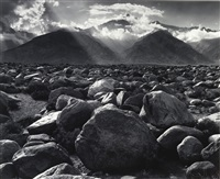 mount williamson from manzanar, california by ansel adams