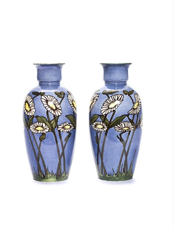 Vases Decorated By Katherine Heywood Pair By Royal Doulton On Artnet