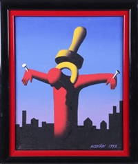the great pacifier by mark kostabi