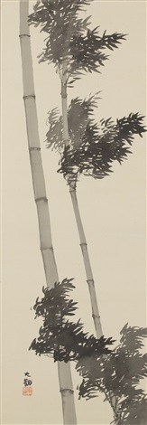 wind and bamboo by taikan yokoyama