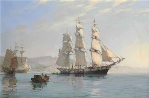 the ann mckim leaving foochow for home by montague dawson