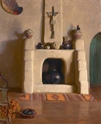 studio fireplace by ernest leonard blumenschein