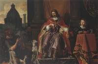 david gives uriah a letter for joab by pieter lastman