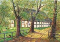 niedersachsenhof im frühling by ernst müller-scheessel