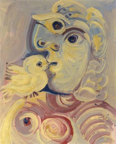 Buste de femme à loiseau by Pablo Picasso on artnet