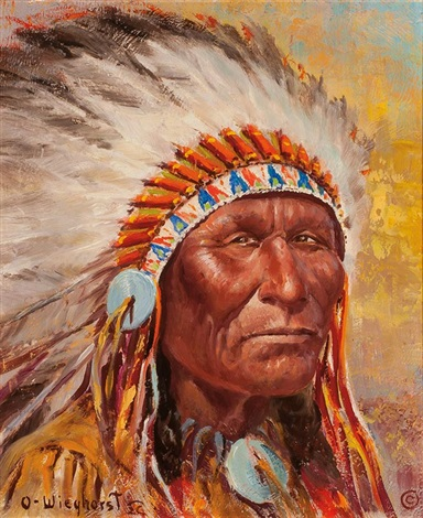 blackfoot indian by olaf wieghorst on artnet