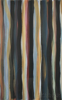 brushstrokes in different colors in two directions, plate 3 by sol lewitt