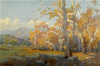 yellow sycamores by marion kavanaugh wachtel