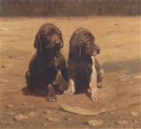 two puppies by fedor ivanovich melnikov