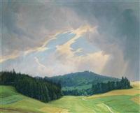 landschaft mit tiefem horizont by wilhelm dachauer