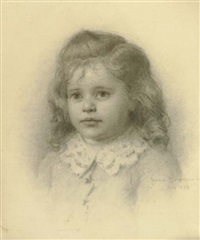 portrait of a young girl by jennie augusta brownscombe