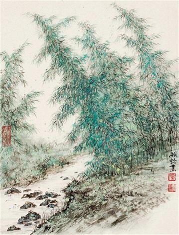 竹溪一角 by huang xiangling
