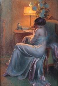 jeune femme en robe du soir by delphin enjolras