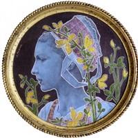 femme parmi les fleurs by alfred victor fournier