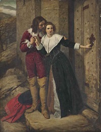 being held a foe, he may not have access to breathe such vows as lovers use to swear - romeo and juliet, act ii: prologue by frederick richard pickersgill