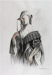 dama con mascara by vito campanella