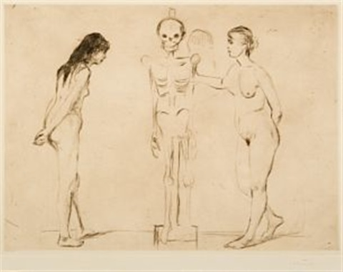 kvinnene ved skjelettet the women and the skeleton by edvard munch