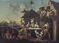 scena di festa di contadini by giacomo francesco cipper