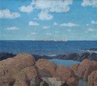 veleros en el puerto del buceo by carlos maría de santiago
