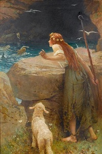 the shepherdess by edward frederick brewtnall