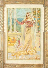 beauty on mediterranean balcony by william de leftwich dodge