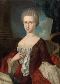 portrait einer adeligen dame by t. d. loen