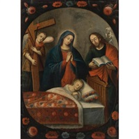 the adoration of the sleeping christ child by peruvian school (17)