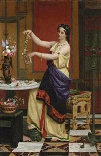 le collier de fleurs by françois edouard zier