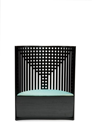 Curved Lattice Back Chair (model Willow 1) By Charles Rennie Mackintosh