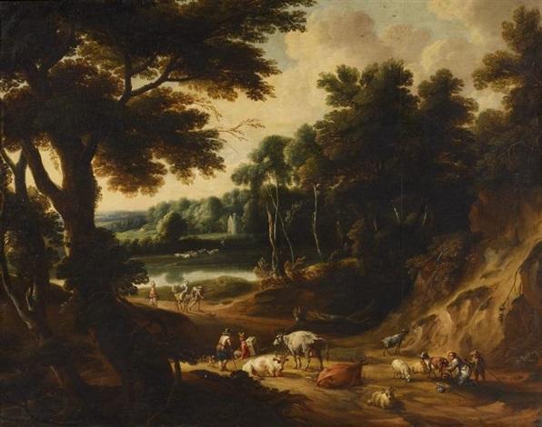 weite landschaft mit hirten by jacques d arthois