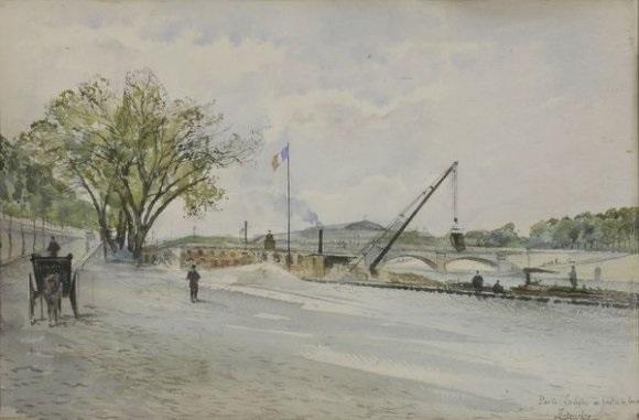 la seine au pont de la concorde by f leteurtre