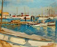 port de cannes by lucien adrion