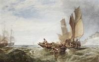 fishing in choppy seas by charles bentley