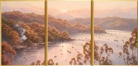 pittwater n.s.w. (triptych) by ramon ward-thompson