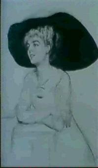 femme au chapeau by sofie-zo atteslander