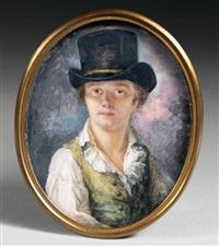 autoportrait de l'artiste au chapeau by lié-louis périn-salbreux