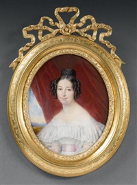 portrait de madame de monseignat by francois meuret