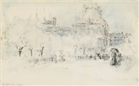luxembourg gardens by everett shinn