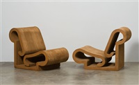 lounge chairs (pair) by frank gehry