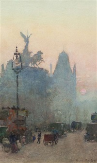 london in the rain by rose maynard barton