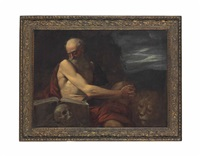 saint jerome in the wilderness by pietro faccini