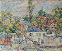 paysage aux maisons by lucie cousturier