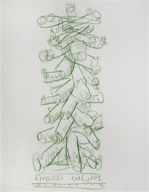 study for invasion viii endless column by jyothi basu