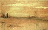 dos figuras en un paisaje by agustin lhardy garrigues