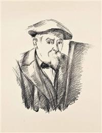 autoportrait (three duplicate) by paul cézanne