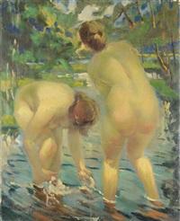 nudes in the lake by vitaly gavrilovich tikhov