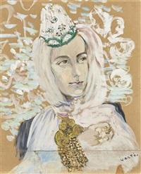 femme vêtue à l'orientale by marcel vertès