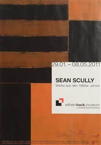 sean scully exhibition poster by sean scully